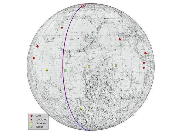 GRAIL's trajectory across the moon