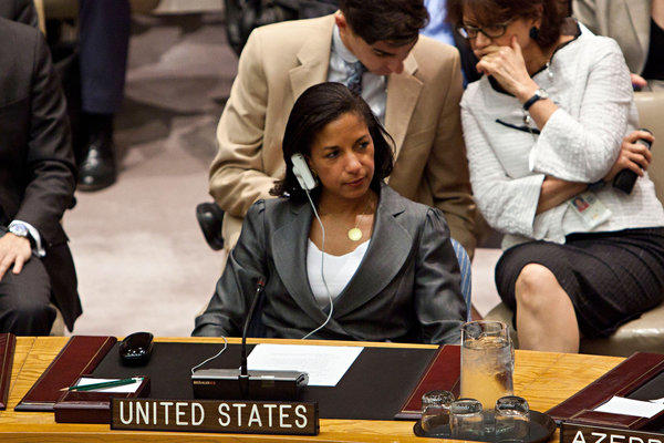 U.N. Ambassador Susan Rice had come under heavy criticism for her defense of the Obama administration after armed militants killed four Americans in Benghazi, Libya.