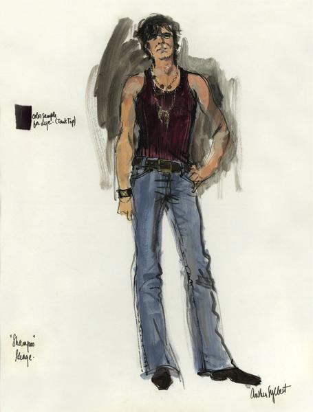 "Sketch from ""Shampoo"" by Pauline Annon on Page 95: ""Courtesy of the Designer,"" from ""Hollywood Sketchbook: A Century of Costume Illustration"""
