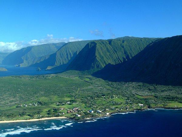 Molokai's former leper colony is now a national historical park, reached by air or by a 3.5-mile trail.