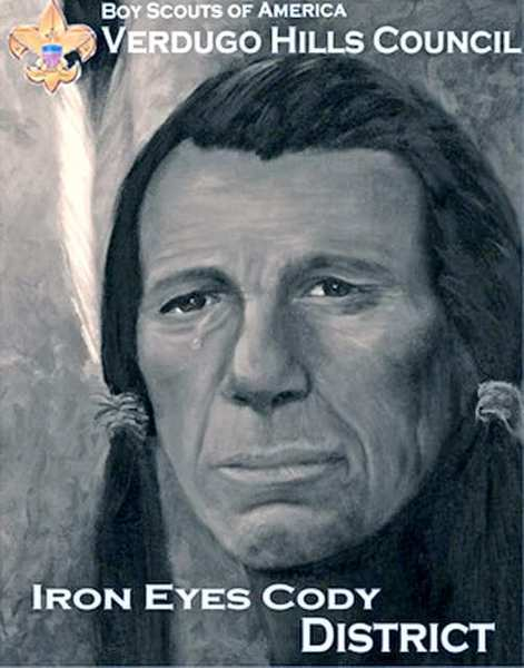 Iron Eyes Cody. (Photo courtesy Verdugo Hills Council, Boy Scouts of America)