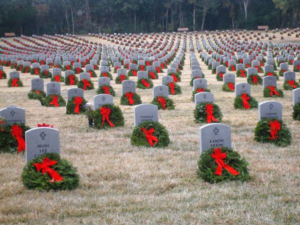 There are times you don't have to go very far to find a beautiful spot for a photo, says Pamela West. The Florida National Cemetery in Bushnell was decorated in December with wreaths laid for Wreaths Across America. The green wreaths and red bows against the granite stones in the military graveyard in Sumter County makes such a statement that no words are needed to express the esteem in which Americans hold those who have served their country, some making the ultimate sacrifice while doing so.