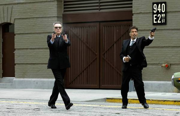 "Christopher Walken, left, and Al Pacino in ""Stand Up Guys."""