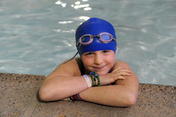 Carly Lenett 7, of Lower Macungie Township recently swam 100 laps in less than two hours to raise awareness and money for juvenile diabetes.