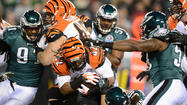 Bengals at Eagles game action