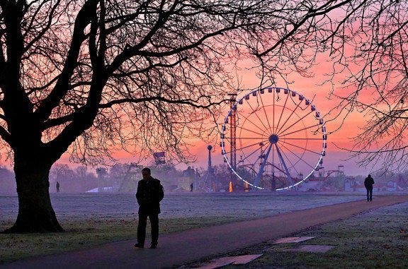 Bundle up for a winter stroll through Hyde Park in London.