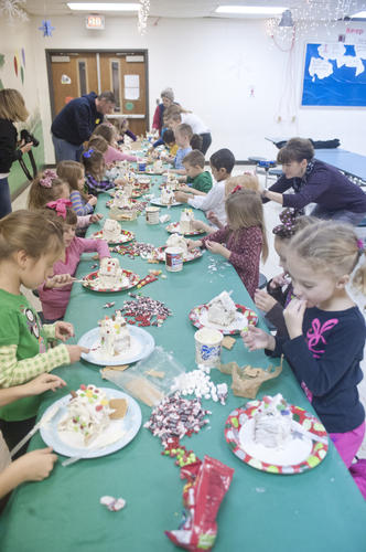 Photo Gallery: Gingerbread houses at Woodlawn Elementary School