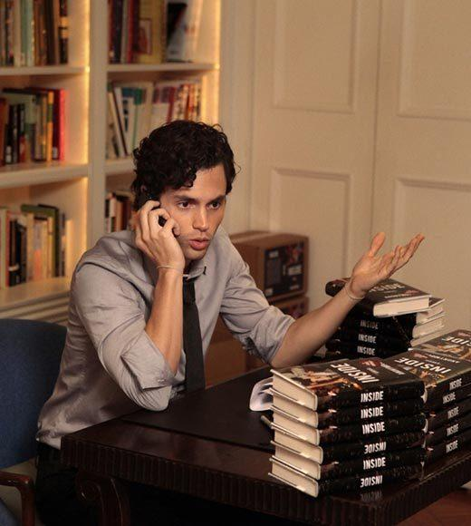 Sorry, Dan: Barricading yourself with copies of your book won't save you from the wrath of the Upper East Side.