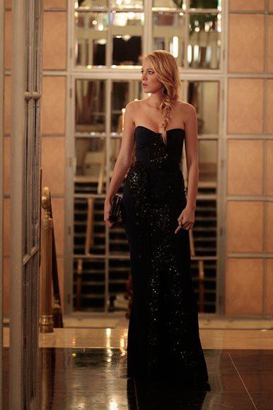 'Gossip Girl' fashion: The good, the bad and the exceedingly ugly: Serena can rock a glittering black column dress.