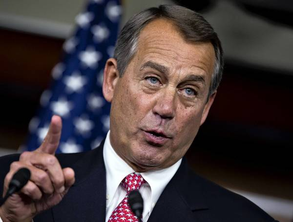 """Spending is the problem. That's why we don't have an agreement,"" House Speaker John A. Boehner said at a Capitol Hill news conference on the ""fiscal cliff."""
