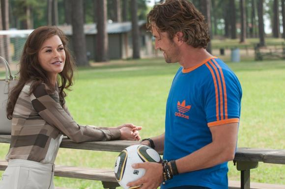 Catherine Zeta-Jones stars as Denise and Gerard Butler stars as George in FilmDistrict's Playing for Keeps.