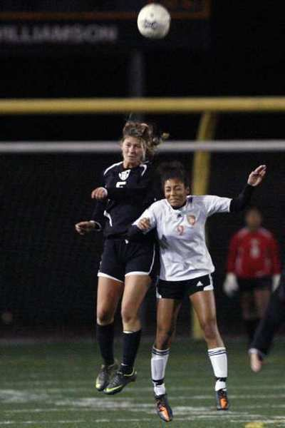FSHA's senior midfielder Sarah Teegarden, left, scored two goals and finalized her future playing days at Wake Forest on the same day.