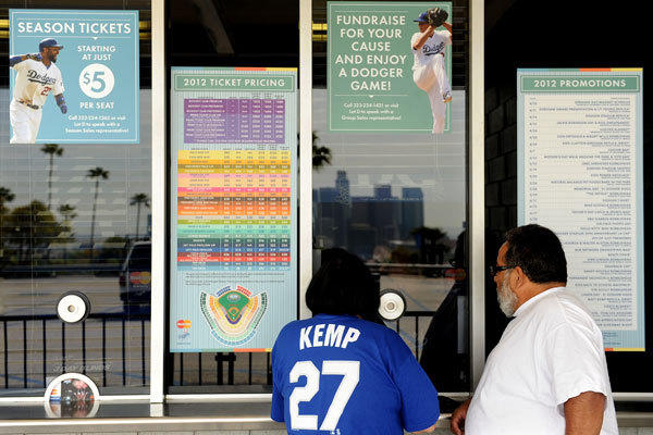 Dodgers fans season tickets