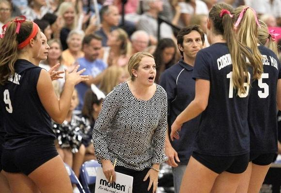 Marissa Booker resigned as Corona del Mar High girls' volleyball coach after two seasons on Monday.