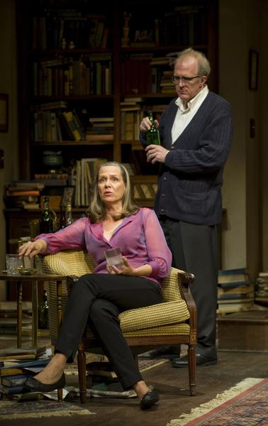 "In Pam MacKinnon's justly celebrated revival of Edward Albee's masterpiece, Tracy Letts (author of ""August: Osage County"" and a first-rate acting talent) and Amy Morton bandy the acerbic zingers with drunken relish but never at the expense of the play's realism."