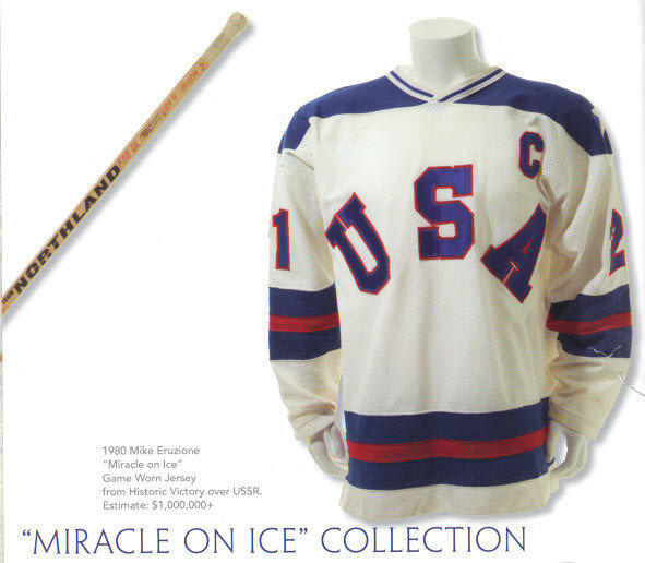 Mike Eruzione's Olympic hockey jersey.