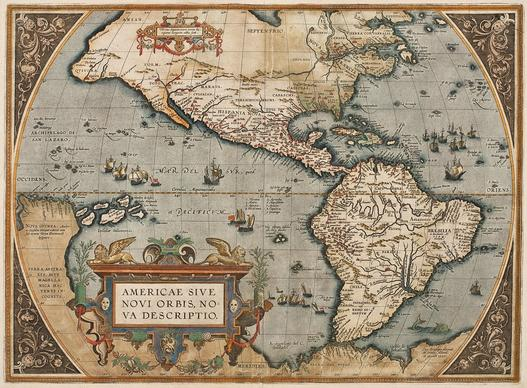 "Abraham Ortelius updated his landmark 1587 atlas with a map of the Western Hemisphere identifying the country that would become Virginia and North Carolina as ""Wingandekoa,"" a historical mistake that came about when English explorers misinterpreted a a Native comment meaning ""You have fine clothes."""