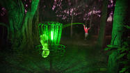 With golfing at night, lost balls are a given. With disc golf, there is no such issue.