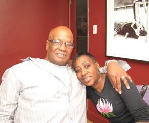 Reformed stick-up artist Donnie Andrews, pictured here with wife Fran Boyd, died of a heart attack in New York City