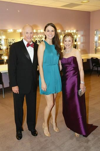 Larry Higby, Broadway star Sutton Foster and Dee Higby.