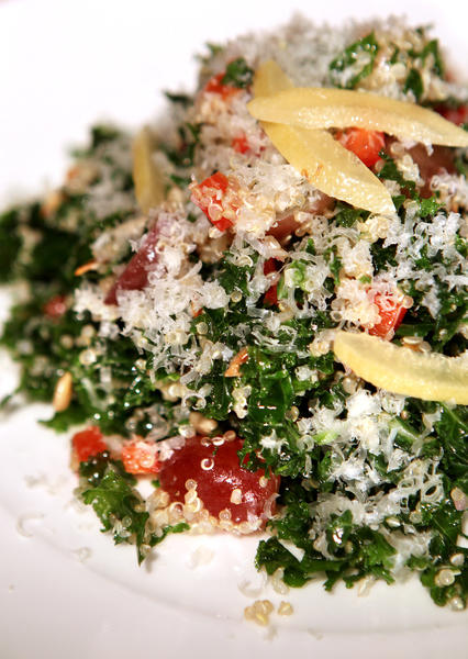 Kale and quinoa salad from La Grande Orange Cafe in Pasadena. Recipe.
