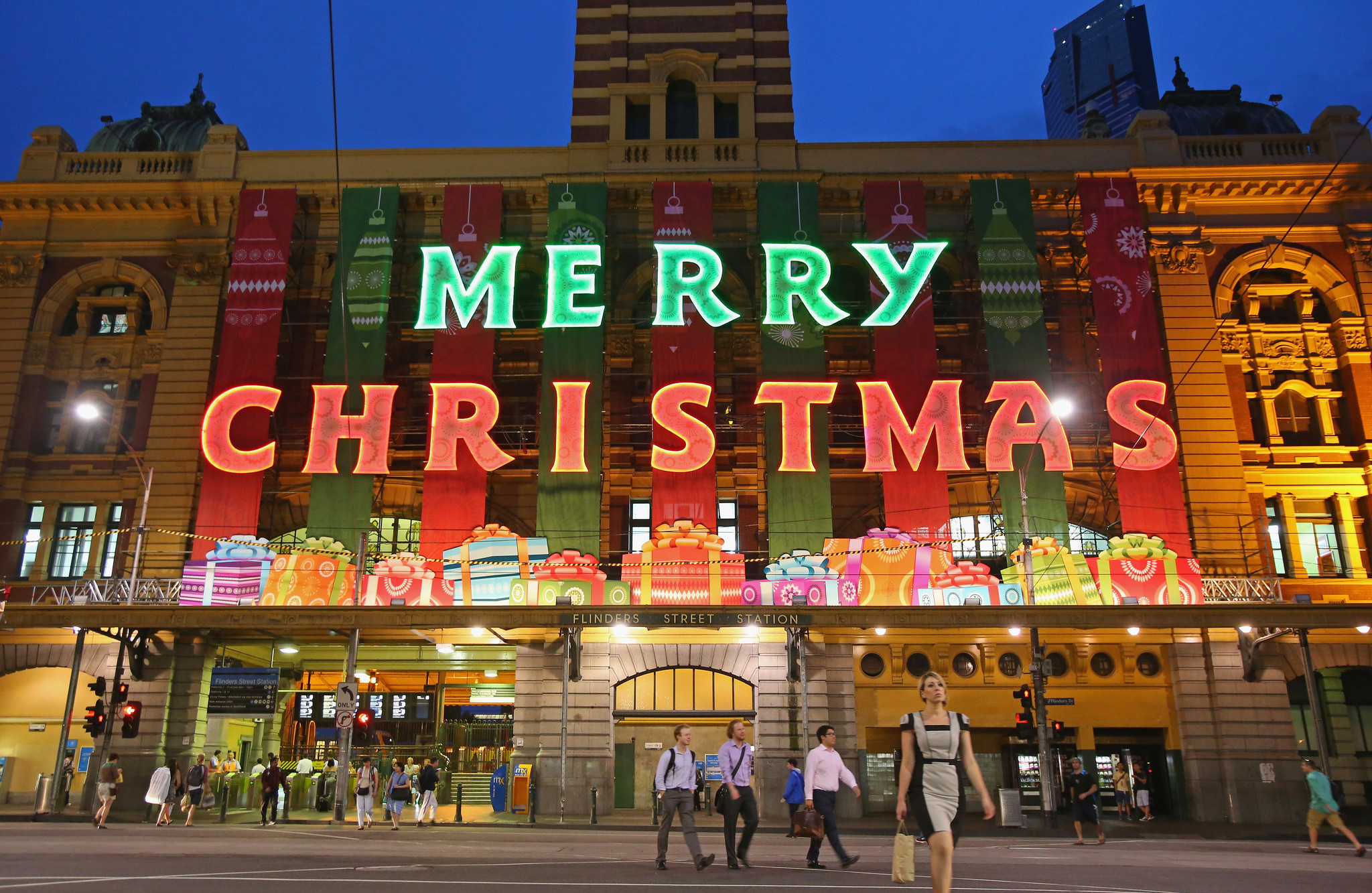 Pictures: Holiday lights from around the globe - Christmas in Melbourne, Australia