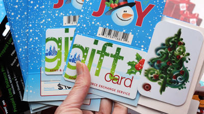 Top gift cards in 2012