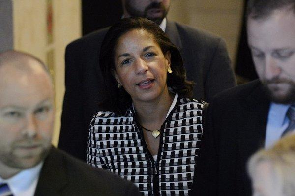 U.S. Ambassador to the United Nations Susan Rice on Capitol Hill on Nov. 28.