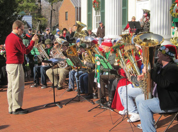 Erik Jones will conduct the Shepherds-town TubaChristmas on Saturday, Dec. 22. Tuba and euphonium players of any skill level can participate.
