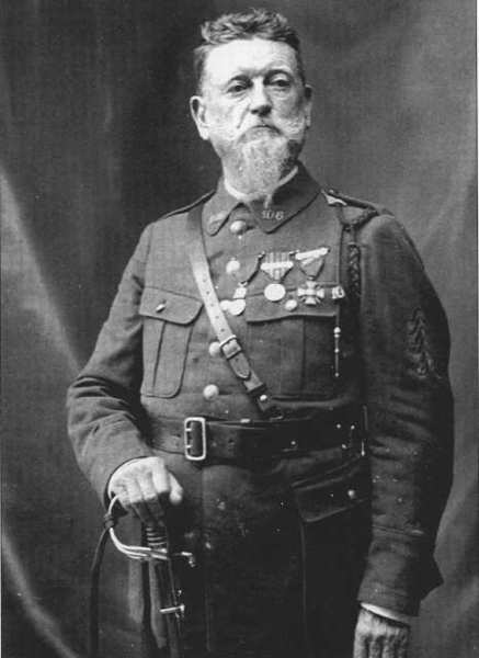 Frenchman George Le Mesnager settled in California in 1866, returning to France three times to defend his country; once during the Franco-Prussian War of 1870-71 and twice during World War I. He was recognized as the oldest soldier to serve throughout World War I. (Courtesy of the Crescenta Valley Historical Society)