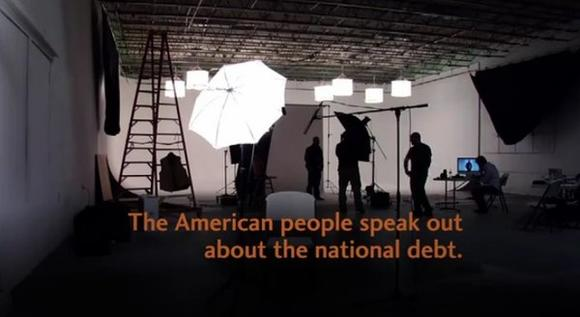 An ad by the Fix the Debt coalition features interviews with Americans talking about their concern over America's debt.