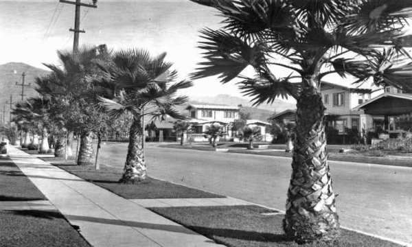 Glendale grew tremendously in the 1920s and 30s and most residential areas (such as the one pictured above) included sidewalks that were installed by the contractor. They marked their work by stamping their names into the sidewalks. (Courtesy of the Glendale Public Library Special Collections)