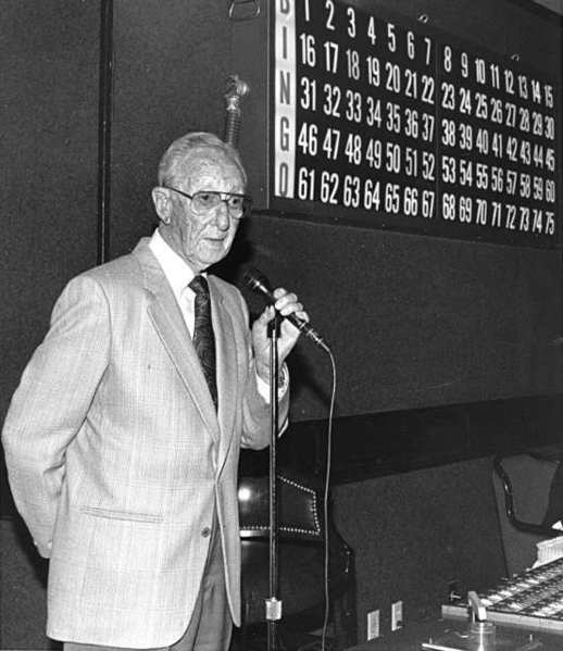 Harry Pryor was in charge of the bingo nights at the Verdugo Club for many years. (Couresy of theSpecial Collections Room, Glendale Public Library)