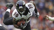 Six running backs were drafted ahead of Ravens rookie running back Bernard Pierce last spring.