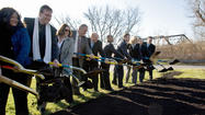 Ground is broken for American Parkway bridge, after decades of planning