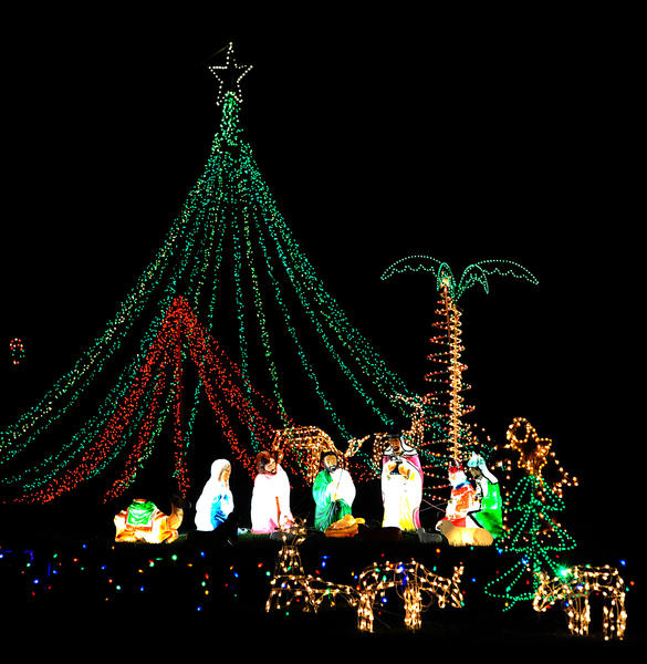 615 Johnson Road, Bushkill Township, is on part seven ('brownie gems') of Bill White's 2012 Christmas lights tour.