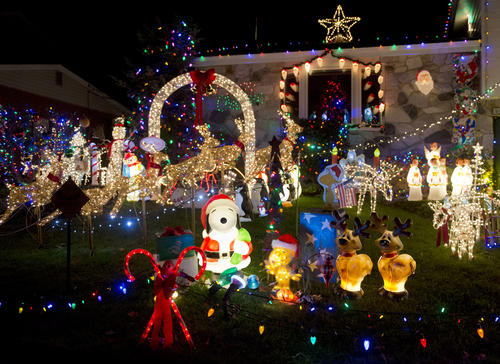 The home of Jerry and Deb McNelis at 1963 Kensington Road in Bethlehem is on part one ('Roni's nut tussies') of Bill White's 2012 Christmas lights tour