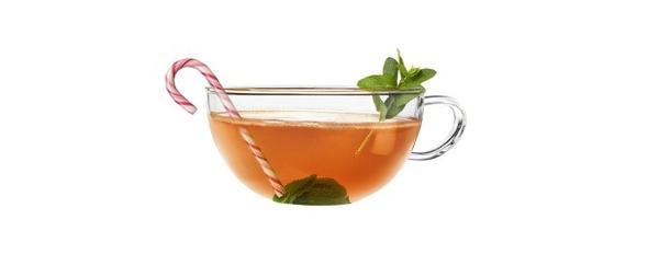 <b>1 ounce</b> Cointreau <br> <b>6¿8 ounces</b> peppermint tea <br><br> Build in a warm cocktail mug and garnish with a candy cane.<br><br> <em>Analysis with one candy cane</em><br> Per serving: 160 calories, 0% calories from fat, 0 g fat, 0 g saturated fat, 0 mg cholesterol,  28 g carbohydrates, 0 g protein, 2 mg sodium, 0 g fiber, 7 g Alcohol