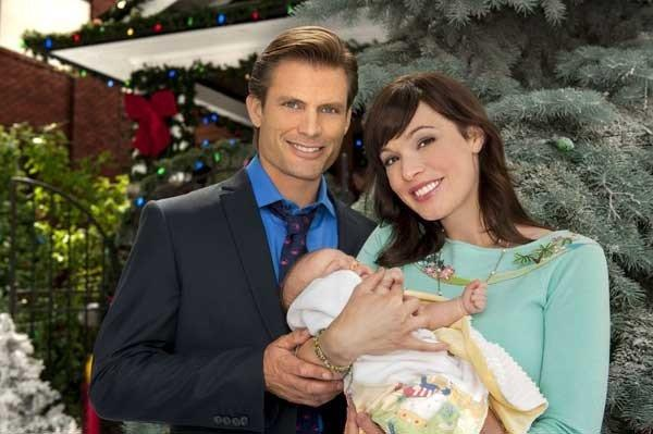 "A bundle of joy brings colleagues (Casper Van Dien and Rachel Wilson) together in the new TV movie ""Baby's First Christmas,"" at 8 p.m. on Hallmark."