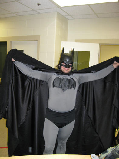 Mark Wayne Williams, dressed as Batman, pleaded guilty to a misdemeanor charge of trespassing on Friday in 90th District Court