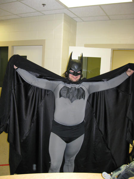 Mark Wayne Williams, dressed as Batman, pleaded guilty to a misdemeanor charge of trespassing on Friday in 90th District Court.