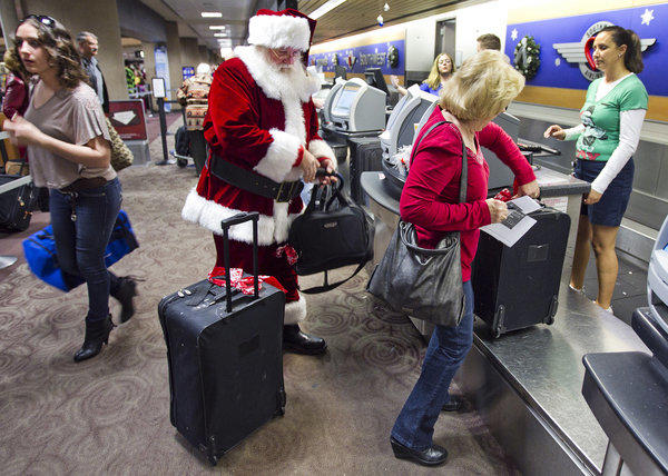 Passengers at Phoenix Sky Harbor International Airport.