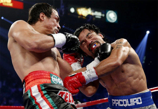 Drug tests for Juan Manuel Marquez, left, and Manny Pacquiao were declared negative by the Nevada State Athletic Commission.