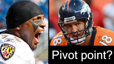 Reeling Ravens face a pivotal test vs. Denver and a revived Pey…