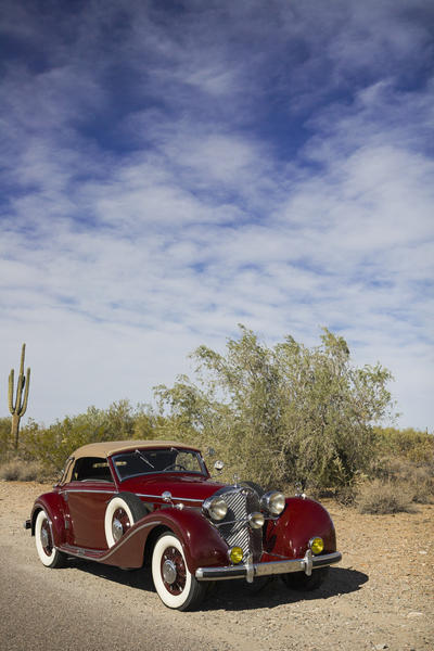 This 1938 Mercedes-Benz 540 A Cabriolet is being offered at auction by Bonhams.