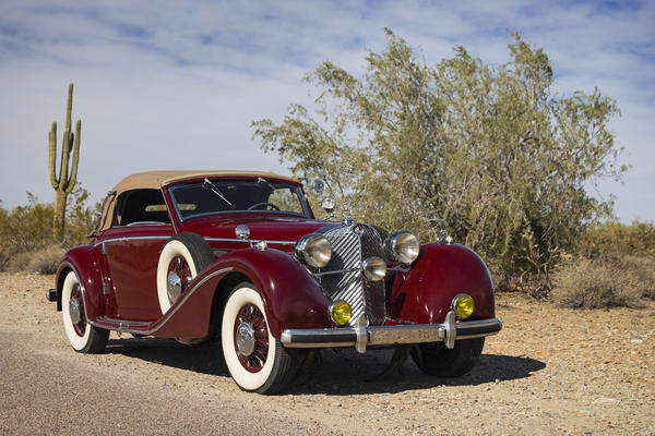 This 1938 Mercedes-Benz 540 A Cabriolet is expected to sell for $1.5 million to $1.75 million.
