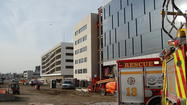 A construction worker was sent to the hospital after a construction site accident Friday.
