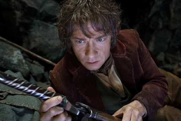 "Martin Freeman as the Hobbit Bilbo Baggins in the fantasy adventure ""The Hobbit: An Unexpected Journey,"" a production of New Line Cinema and Metro-Goldwyn-Mayer Pictures."