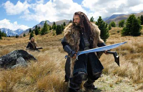 "Dean O'Gorman as Fili and Richard Armitage as Thorin Oakenshield in the the fantasy adventure ""The Hobbit: An Unexpected Journey,"" a production of New Line Cinema and Metro-Goldwyn-Mayer Pictures."