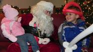 Without wasting any time, 8-year-old Andrew Trostle headed straight for Santa Claus at Friday's 22nd annual Greencastle-Antrim Heritage Christmas in downtown Greencastle.